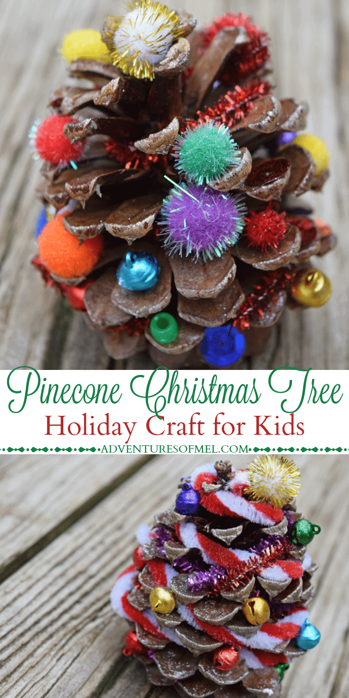 Pinecone Christmas Tree Holiday Craft For Kids