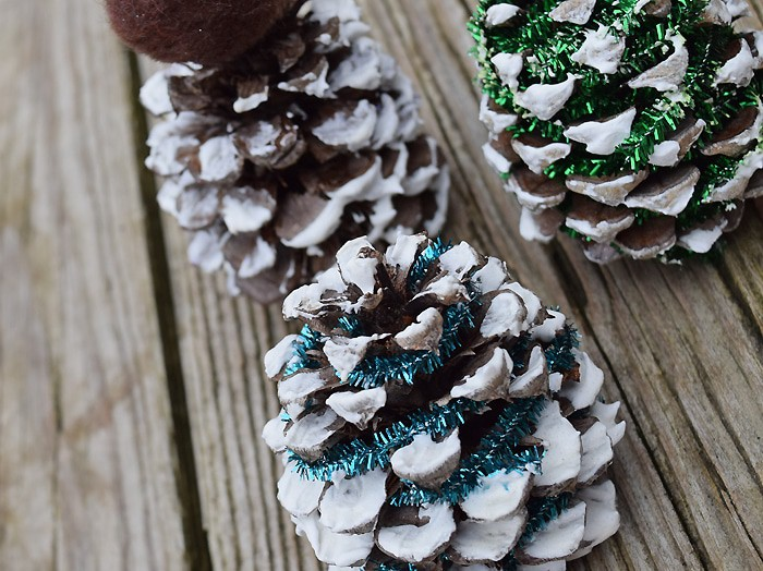 Make Christmas trees out of pinecones, using glue, pipe cleaners, and all sorts of festive embellishments. A pinecone Christmas tree is a great little holiday craft for kids. They also make the cutest, most memorable decorations.