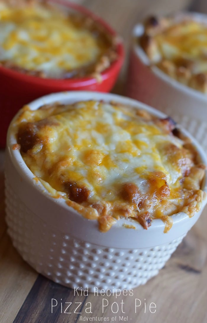 Cooking with kids, coupled with yummy recipes for kids, equals quality time AND a yum-licious meal like Pizza Pot Pie. Let a kid loose in the kitchen, and there's no telling what delicious concoction he'll come up with. Kid friendly recipes, like this pizza casserole, make the best family meals.
