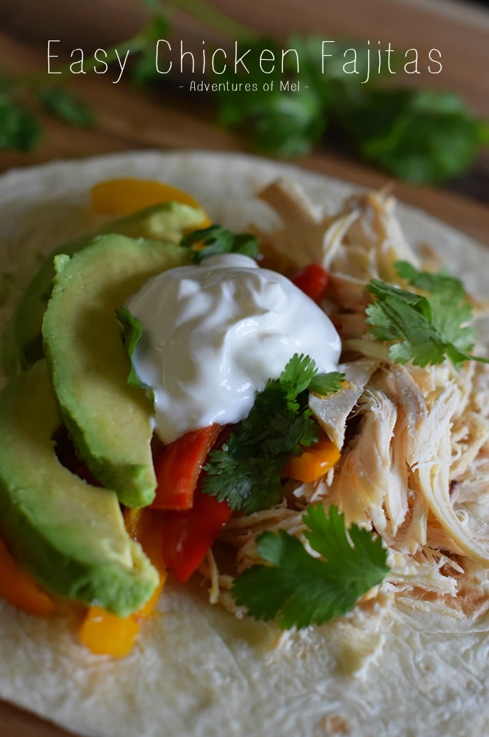 When it comes to week night dinner recipes, we love and need an easy dinner. Easy chicken recipes for the win! Cook a whole chicken in the slow cooker over the weekend; then make that chicken stretch. Chicken fajitas are one of our go-to meals; in fact, I could totally eat Tex-Mex all the time. Grab the recipe for deliciously Easy Chicken Fajitas!