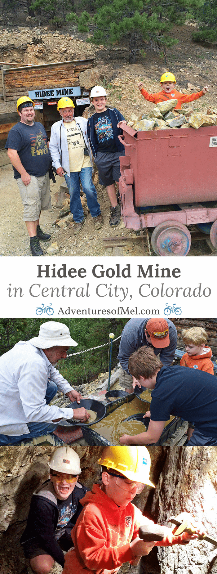The Colorado mountains hold so many secrets and stories. Stories abound near Central City, Colorado at Hidee Gold Mine. It's an unforgettable experience, taking a tour with a veteran miner, learning the history of Hidee Mine, and mining your own gold. We couldn't stop talking about it; it was definitely one of our family's favorite memories from summer vacation.