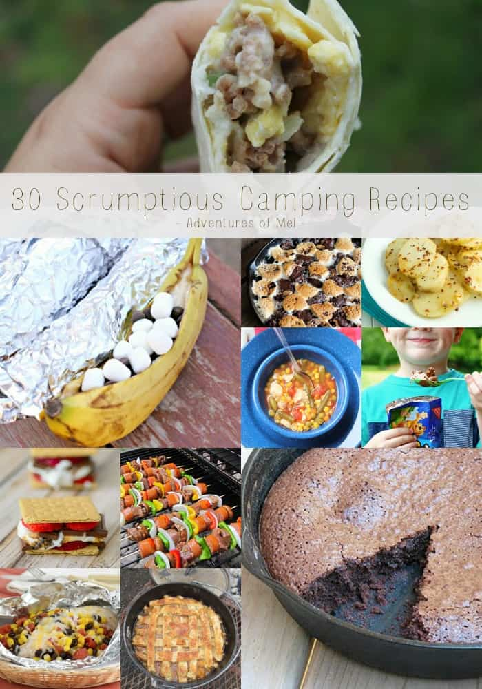 Going camping this summer? Or maybe you're enjoying a backyard campfire. Here are 30 scrumptious camping recipes that will have your family ready to gather 'round the campfire. All kinds of campfire food, including breakfast, dinner, yummy campfire desserts, and kid-friendly recipes!