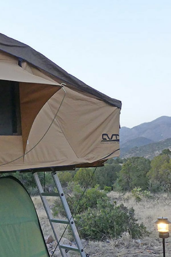 CVT rooftop tent in mountains of New Mexico