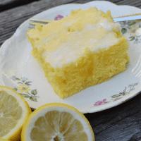 Lemon Poke Cake (without the Pudding)