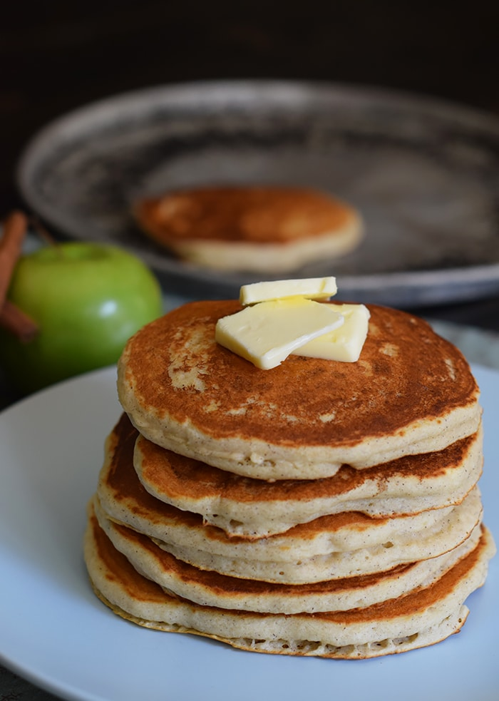 Apple Cinnamon Buttermilk Pancakes - Adventures of Mel