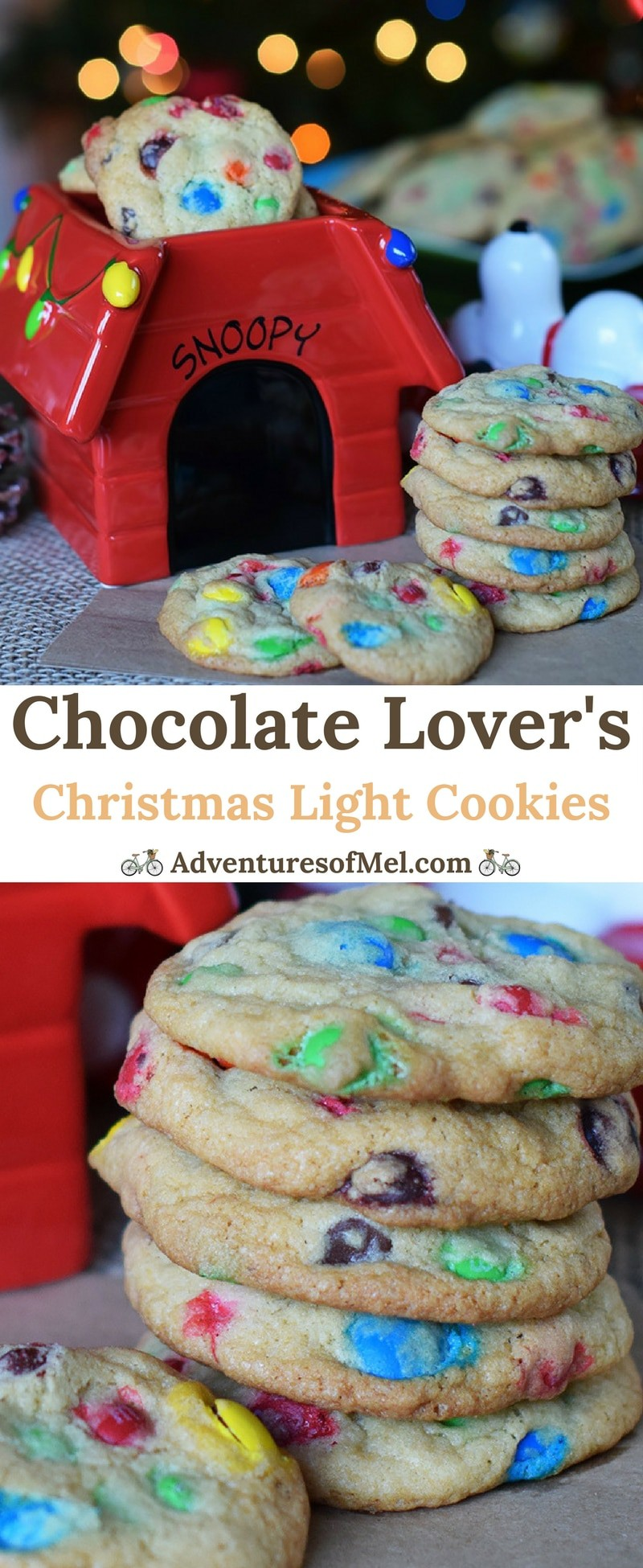 How to make a scrumptious holiday treat, Chocolate Lover's Christmas Light Cookies. Filled with M&M's, perfect for a Christmas party dessert!