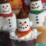 How to Make a Snowman in a Pudding Cup