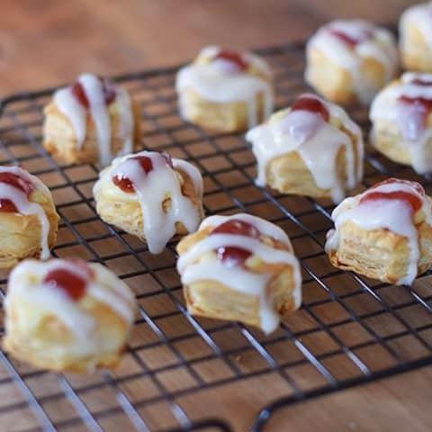 Easy Strawberry Cheese Danish Pastry Bites