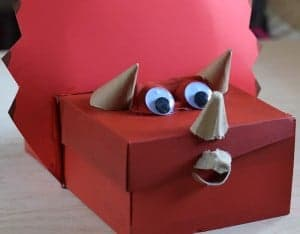 Dinosaur Valentines Box to Treasure Box Shoebox Craft