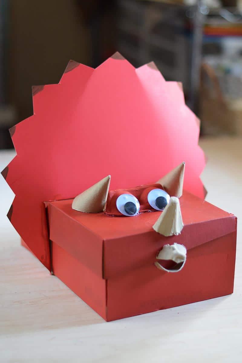triceratops dinosaur Valentine box