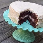 Chocolate Cake with Peanut Butter Cream Cheese Frosting