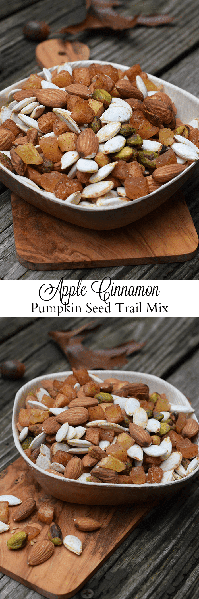 Apple Cinnamon Pumpkin Seed Trail Mix is full of yummy, energy-boosting bites with a slight taste of fall, in case you're craving autumn flavors. It's an easy snack recipe you can prep ahead of time and grab on-the-go.