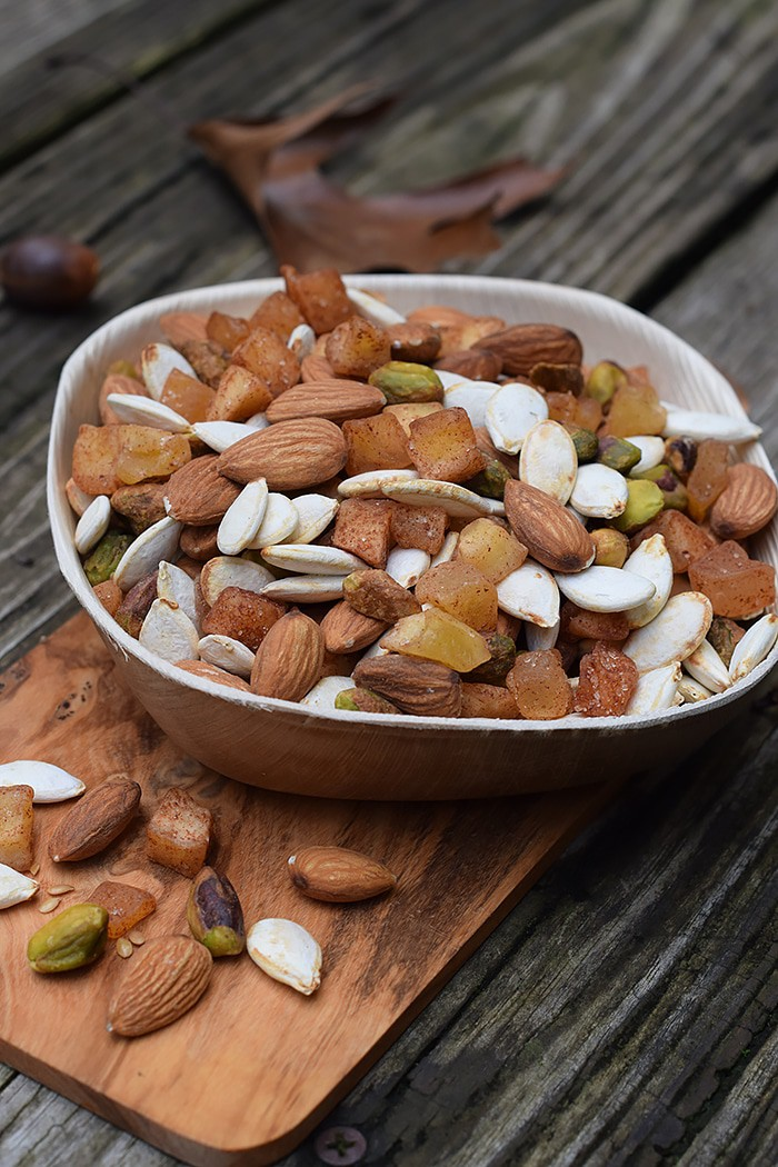 Apple Cinnamon Pumpkin Seed Trail Mix for On-the-Go