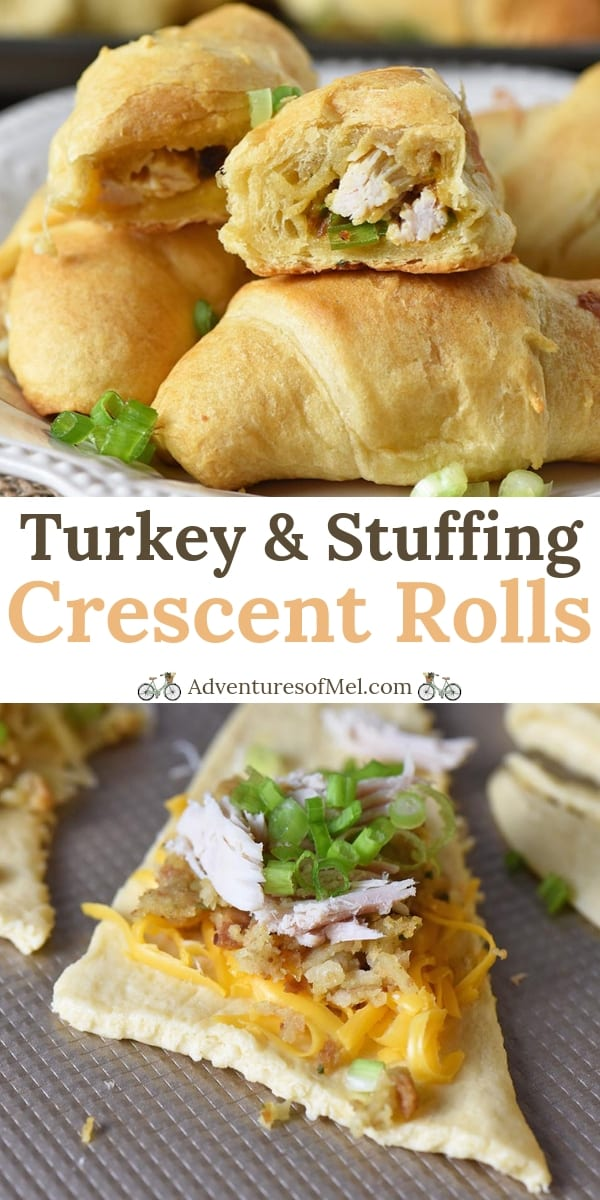 Leftover Turkey Stuffing Crescent Roll Appetizers Recipe