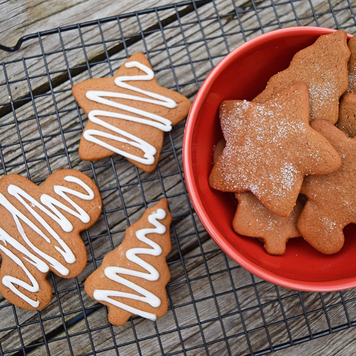 Baking cookies together is one of our family's favorite Christmas traditions. Grab the ingredients, a few decorations, and your family, and make Chewy Gingerbread Cookies together. They're scrumptious classic holiday treats inspired by a vintage cookbook.