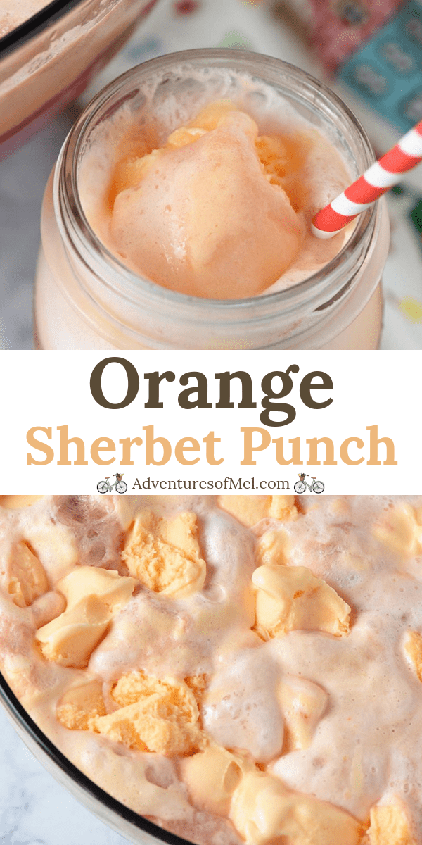 Inspired by family tradition, orange sherbet punch is easy to make and the perfect recipe for Christmas, weddings, baby showers, and holiday parties.