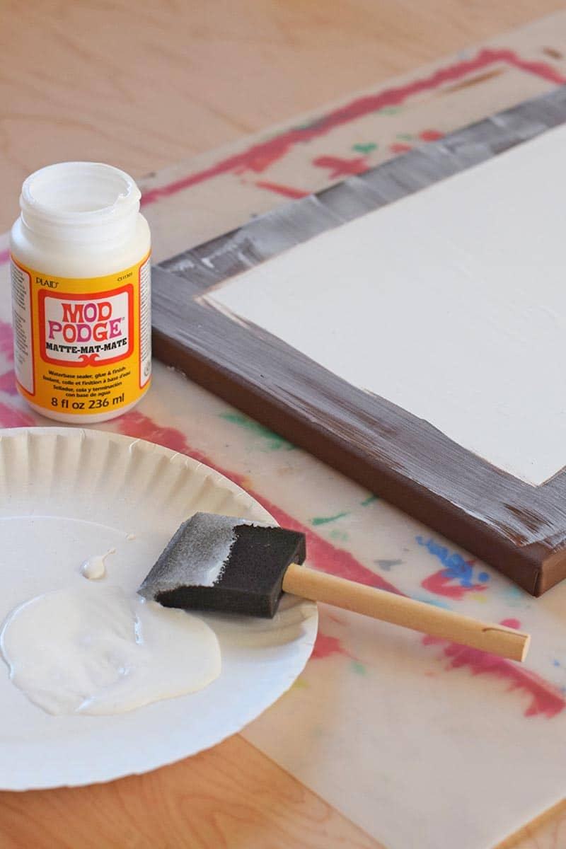 add a layer of Mod Podge to the front of the canvas before applying the photo