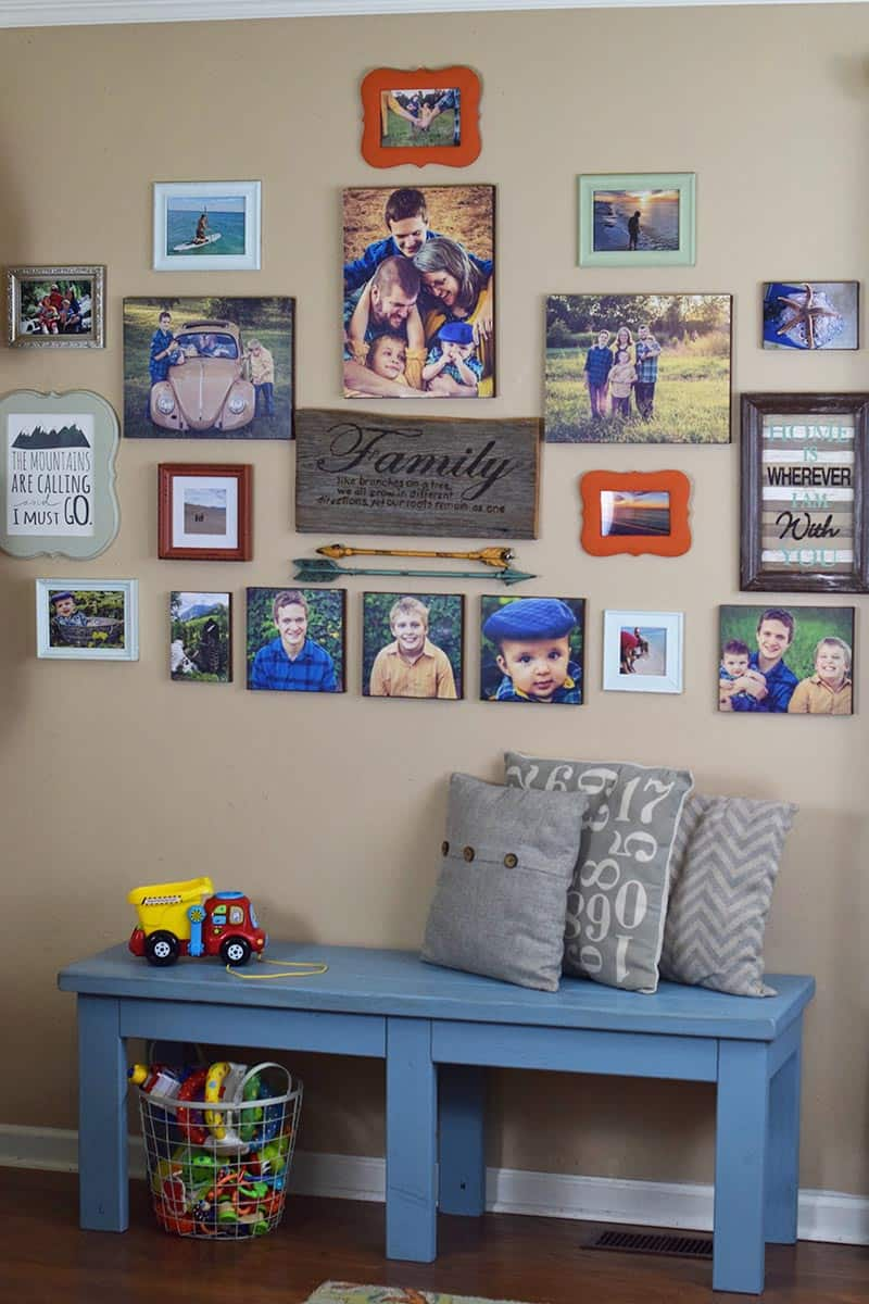 gallery wall decor with DIY photo canvas prints