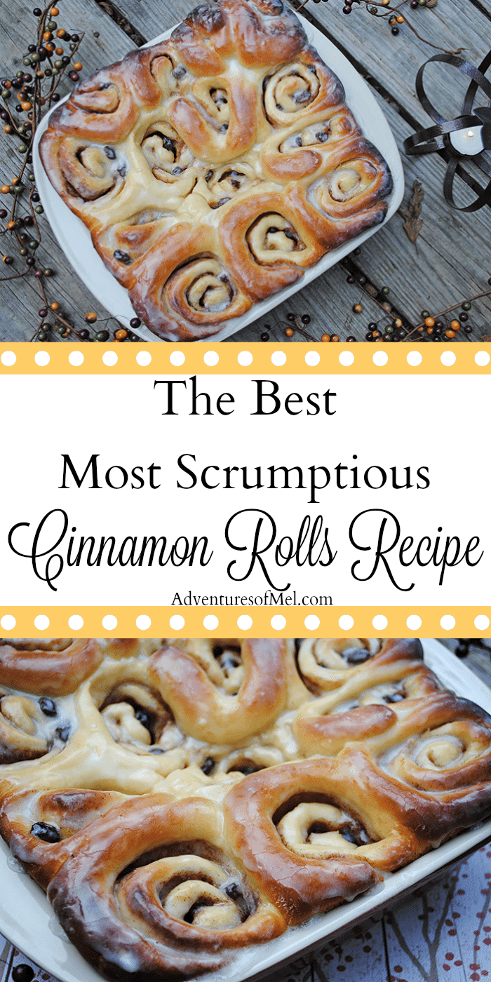 Cozy up with the best most scrumptious cinnamon rolls recipe ever! My mom taught me how to make these cinnamon rolls. This recipe also happens to be my grandma's bread rolls recipe with just a few extra steps added to make cinnamon rolls. Homemade cinnamon rolls make the perfect breakfast treat, especially on a cold day when it's nice and warm inside.