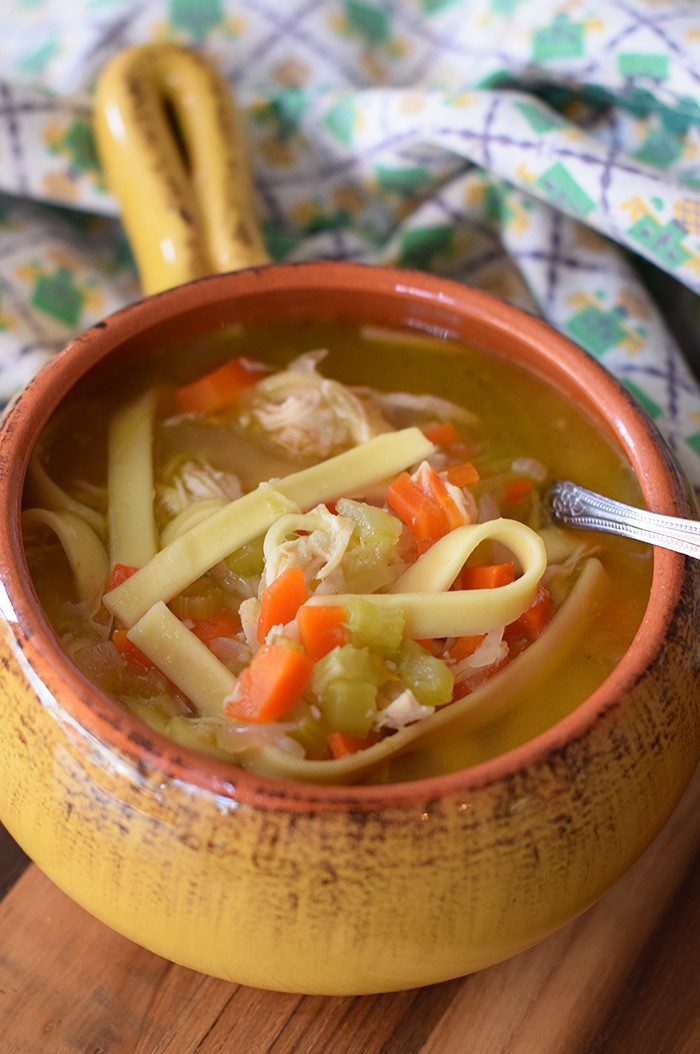 When you're sick with cold and flu, nothing tastes quite as good or makes you feel better like a good hot bowl of chicken noodle soup. How to make an easy Instant Pot Chicken Noodle Soup you can depend on, sick or not. Add to your stash of easy chicken recipes!