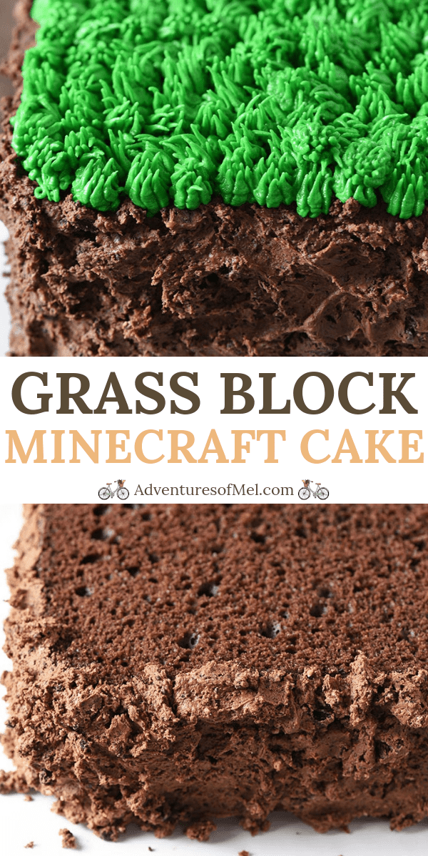 Super Easy Grass Block Minecraft Cake Recipe