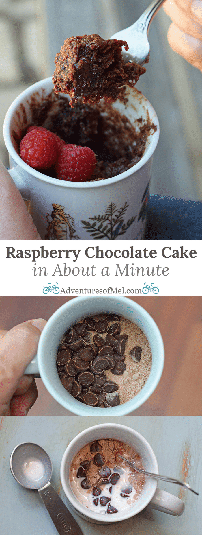 Craving a simple and easy dessert that will satisfy your sweet tooth but only take about a minute to make? How to make raspberry chocolate cake for 1 in about a minute. Print the recipe!