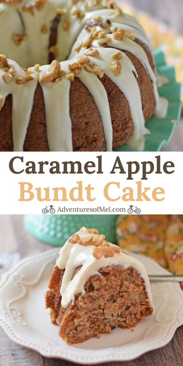 Apple Bundt Cake with Caramel Cream Cheese Glaze Recipe