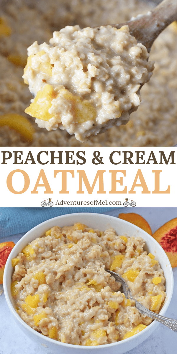 peaches and cream Instant Pot oatmeal recipe
