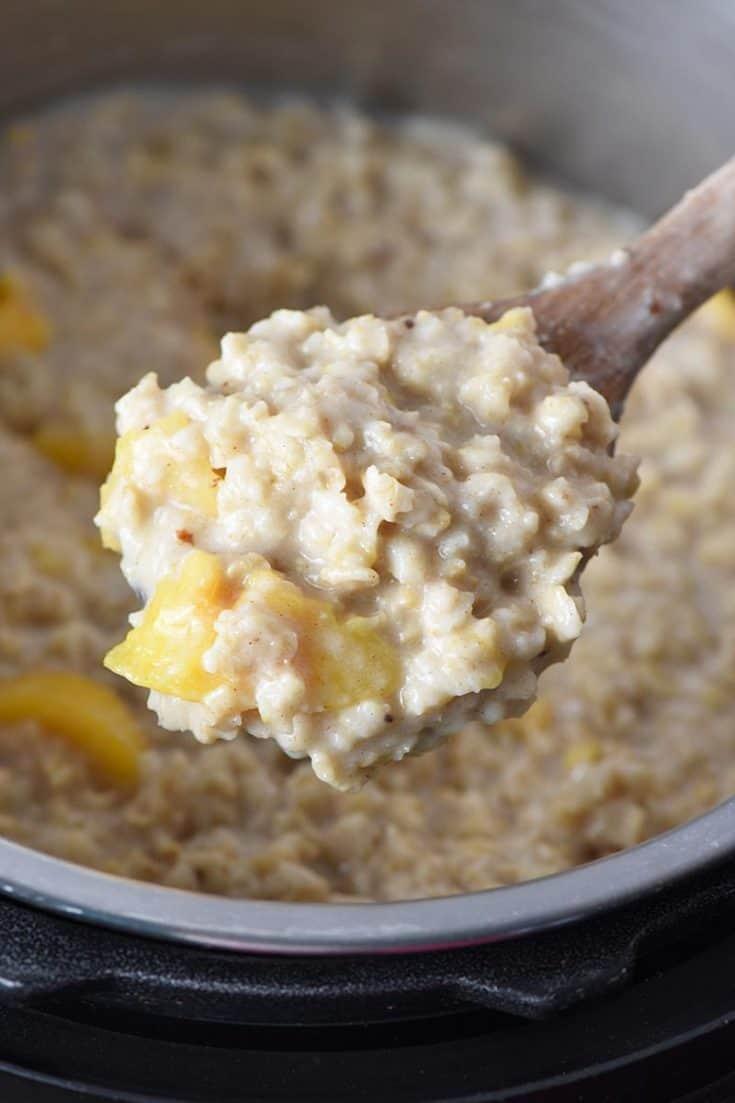 Peaches And Cream Instant Pot Oatmeal Recipe Adventures Of Mel