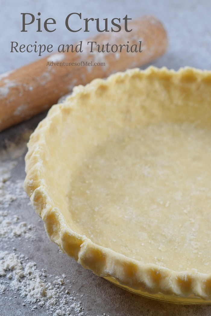 Deliciously flaky pie crust recipe using 4 ingredients. Easy step by step tutorial for a traditional homemade crust.