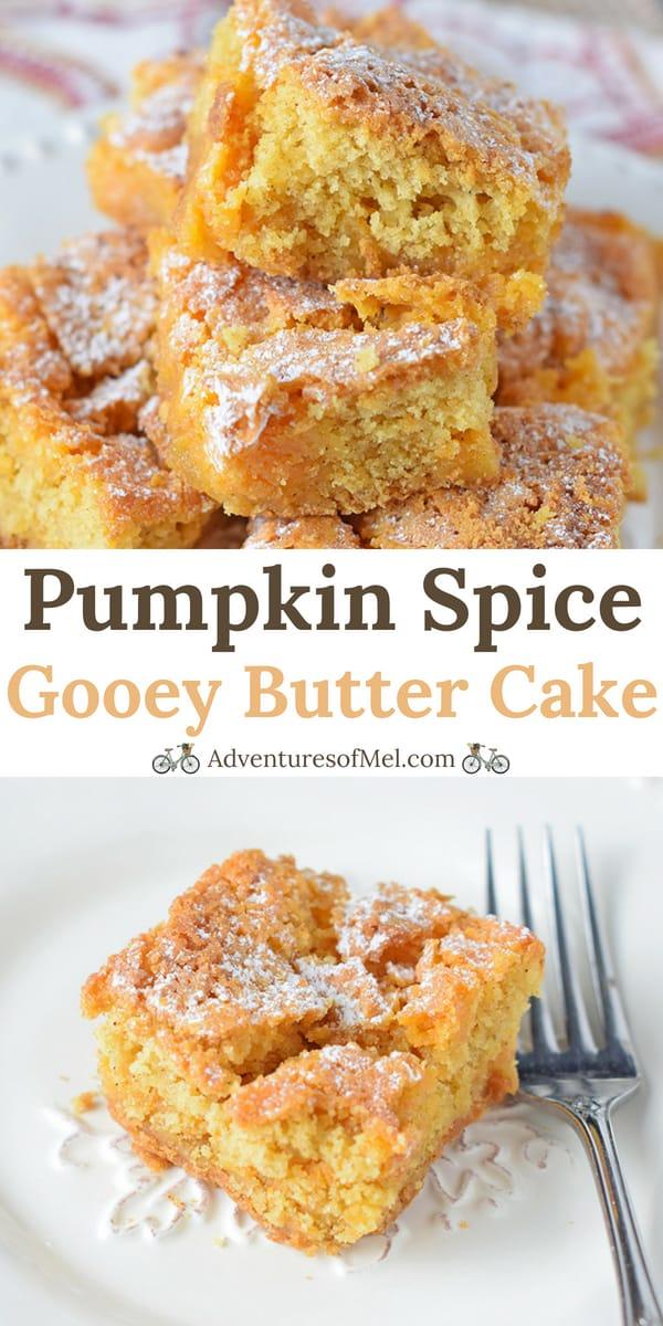 Pumpkin Spice Gooey Butter Cake recipe