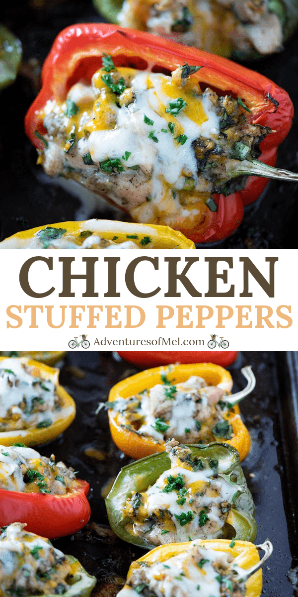 Spinach and Chicken Stuffed Peppers Recipe
