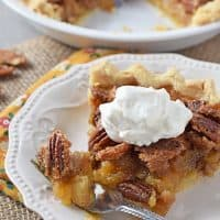 Classic Pecan Pie, made with dreamy pecans and a sweet and somewhat salty filling, a delicious dessert. My family's favorite pecan pie recipe!