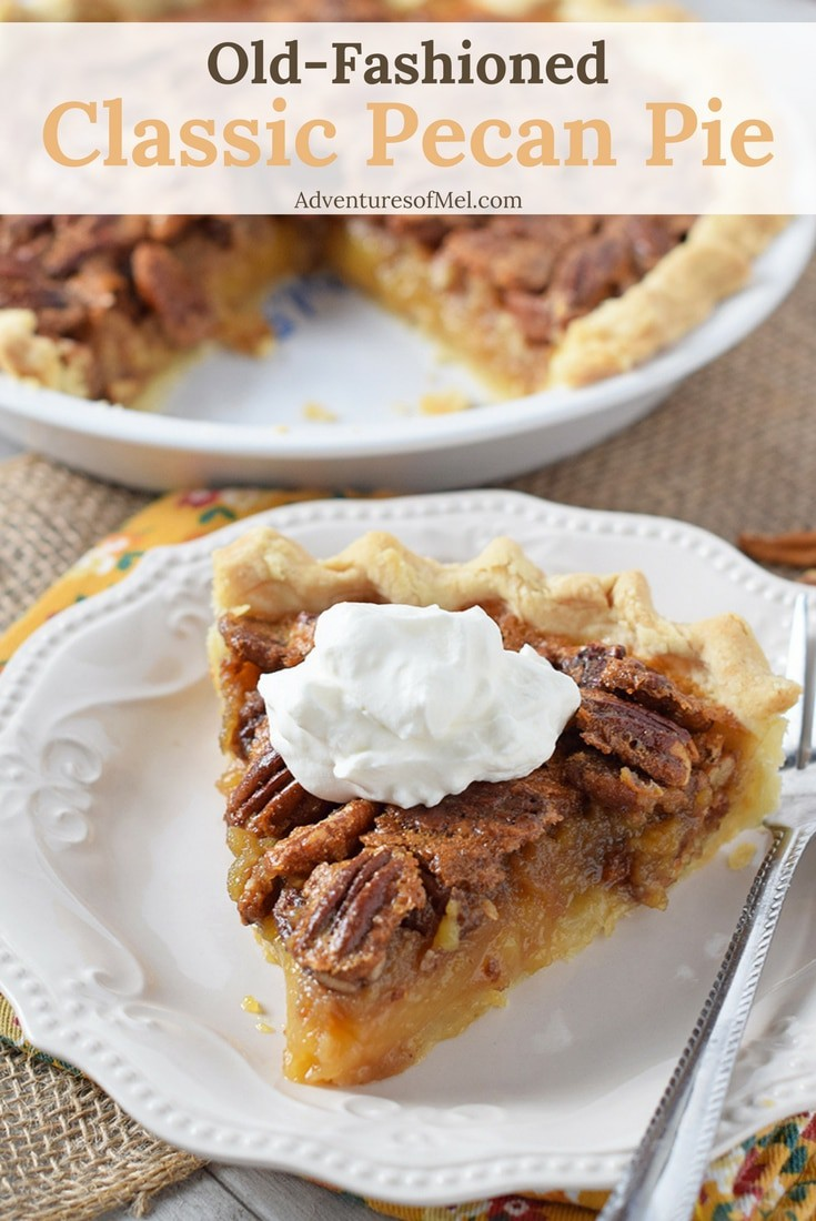 Classic Pecan Pie is one of my family's favorite desserts, especially during the holiday season and especially at Thanksgiving. Make with pecans and a dreamy sweet filling. So delicious!