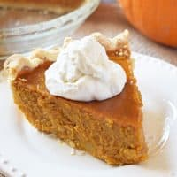 How to make classic pumpkin pie, a recipe straight from Grandma's recipe box. It's creamy, delicious, and the perfect dessert for holiday celebrations.