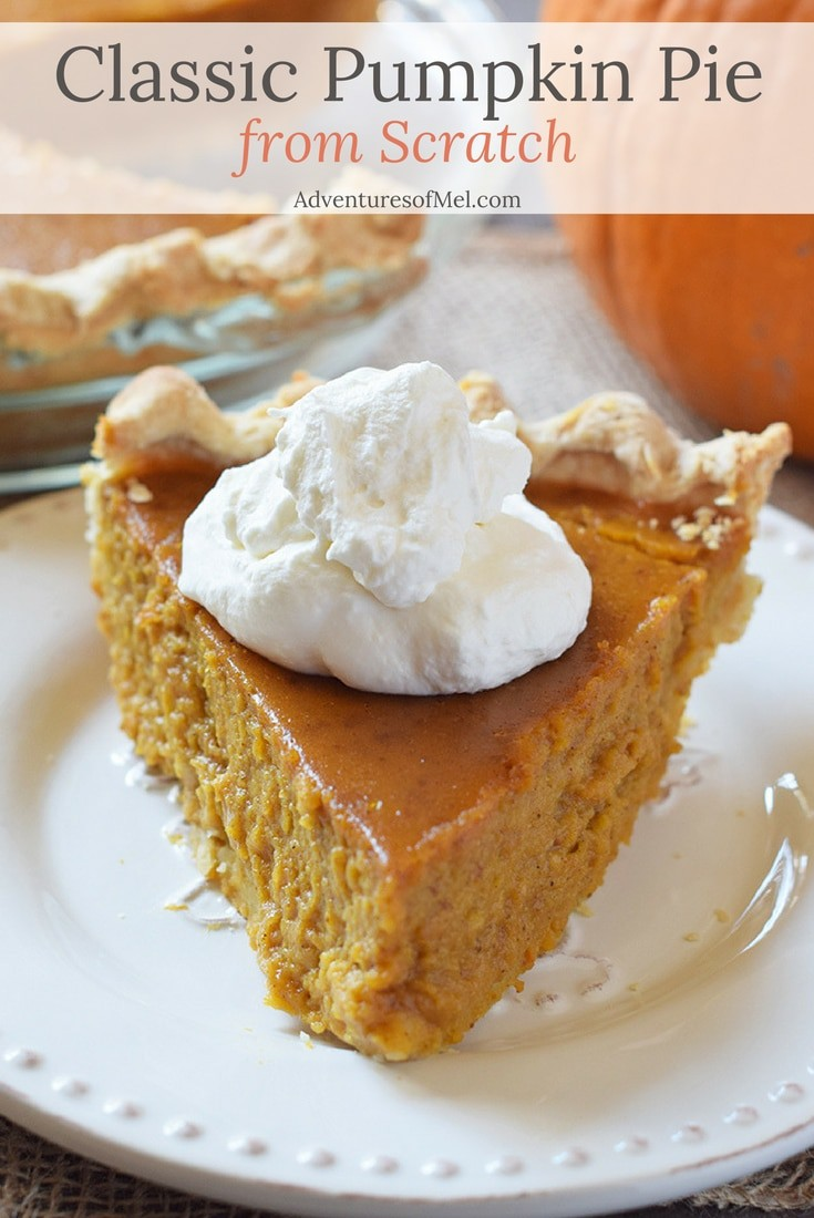 How to make Classic Pumpkin Pie from scratch using Grandma's recipe. Such a delicious traditional dessert!