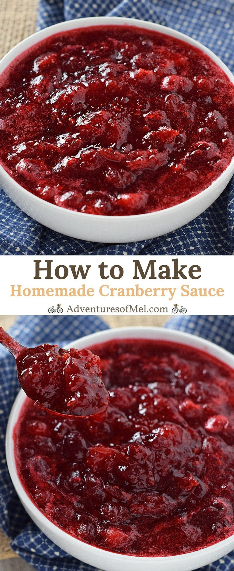 Homemade Cranberry Sauce made from scratch using fresh cranberries. Easy recipe, perfect for Thanksgiving and the holiday season.