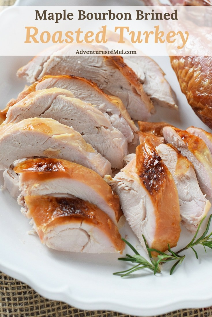 How to make the most delicious moist turkey you've ever had… Maple Bourbon Brined Roasted Turkey. Hands down my favorite turkey recipe.