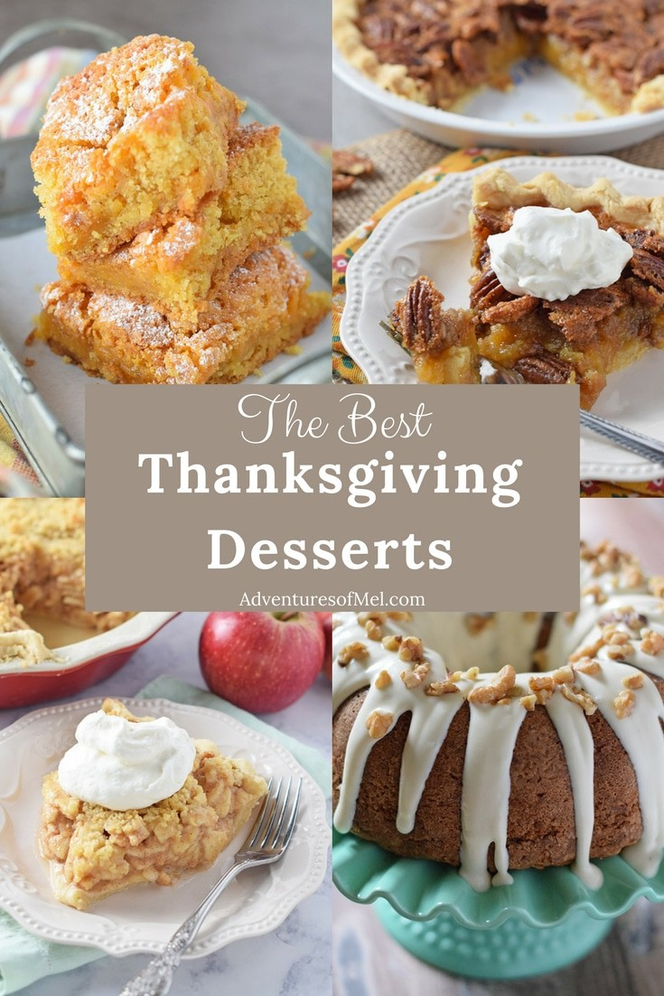Thanksgiving recipes to add to your holiday dinner menu, including my family's favorite holiday desserts. Delicious sweet treats for your Thanksgiving dessert table.