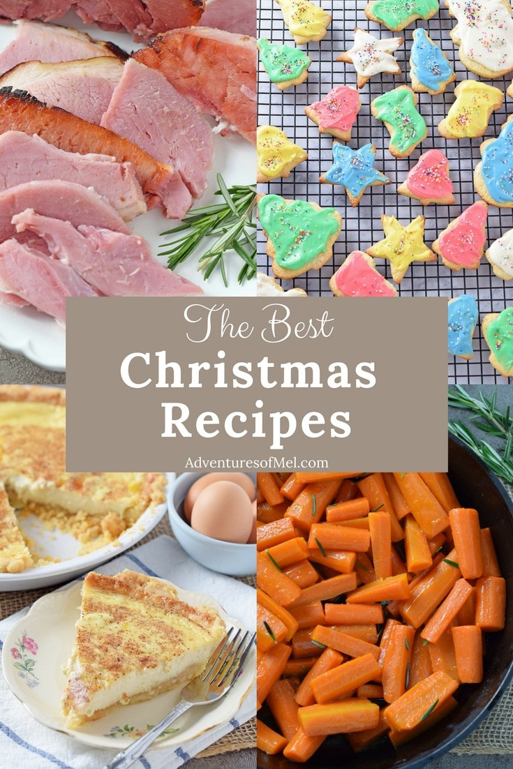 Christmas recipes to add to your holiday dinner menu, including party appetizers, turkey and ham, delicious side dish recipes, and scrumptious desserts!
