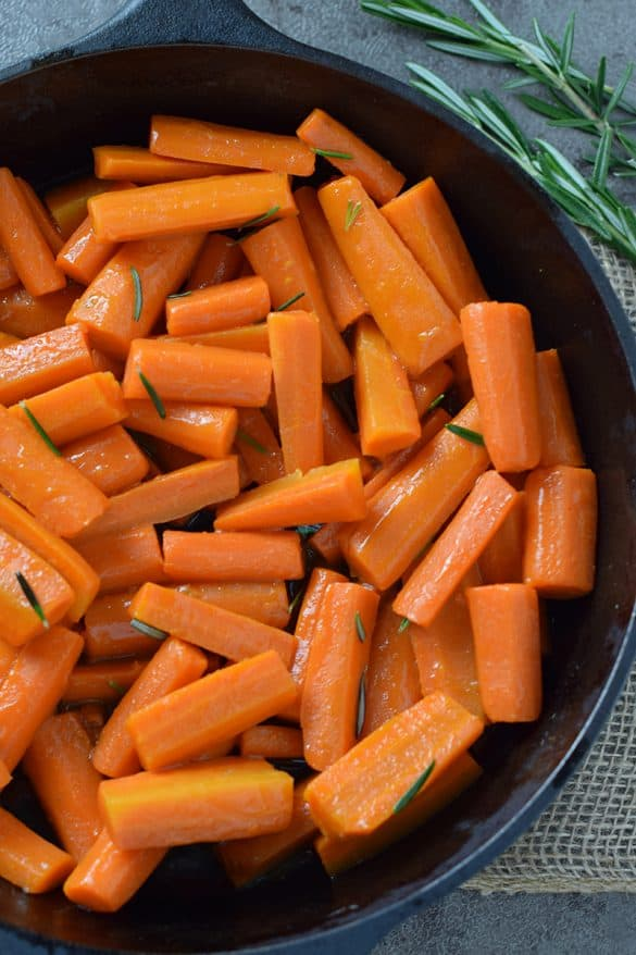 Honey Glazed Carrots, made with 4 simple ingredients. Delicious side dish recipe you can add to your holiday or weeknight menu.