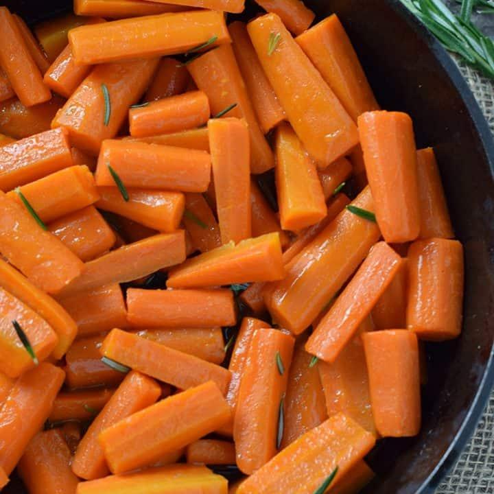 Honey Glazed Carrots with Rosemary