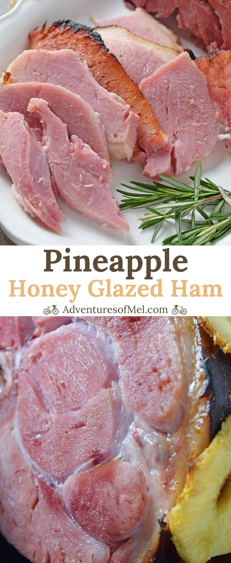 Pineapple Honey Glazed Ham recipe. How to make a perfectly cooked, moist, delicious ham for dinner and holiday celebrations.