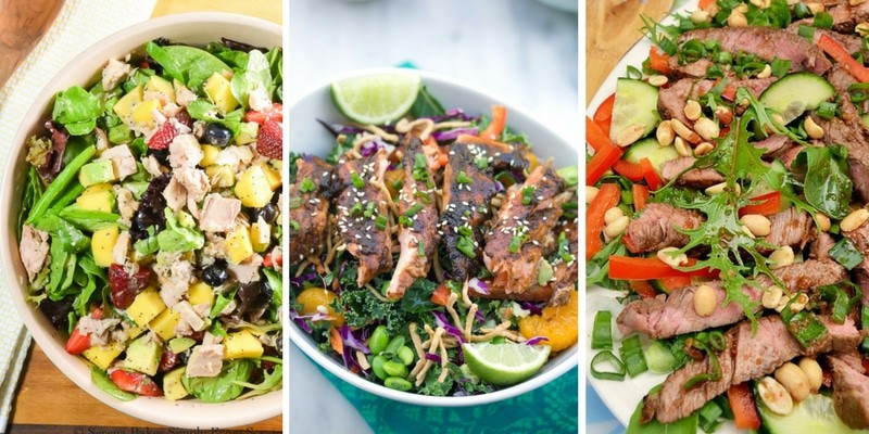 Meat filled Colorful Salads