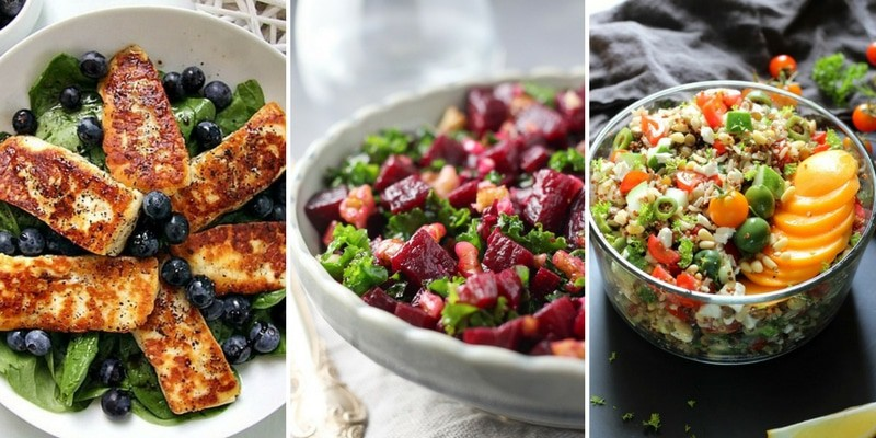 Meatless ideas for colorful salads
