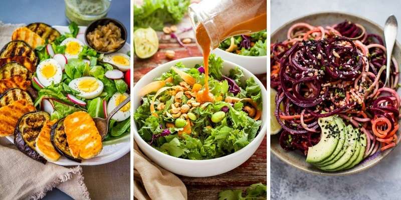 Meatless Colorful Salads