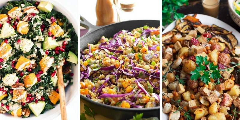 Colorful Salads without any meat
