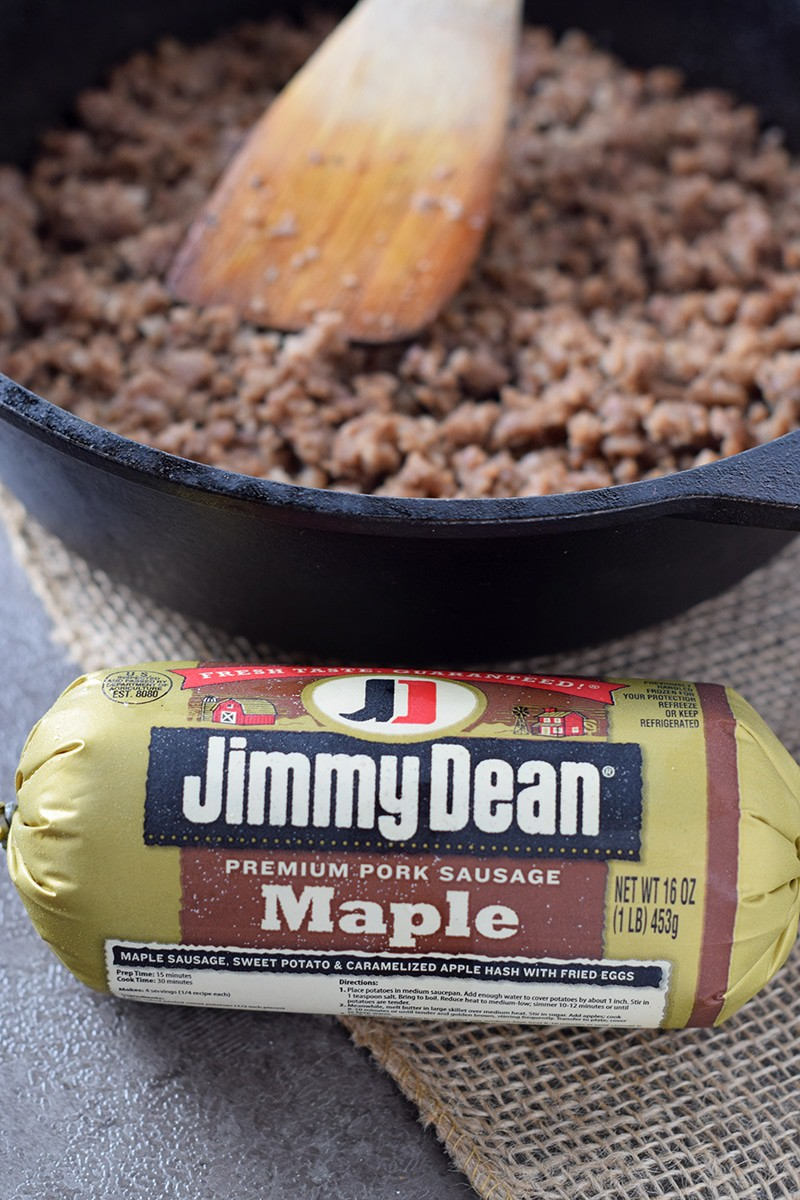 Use Jimmy Dean® Maple Sausage to make Maple Sausage Stuffed Pastry Bites. Easy delicious appetizer recipe, perfect for holiday parties with family and friends.