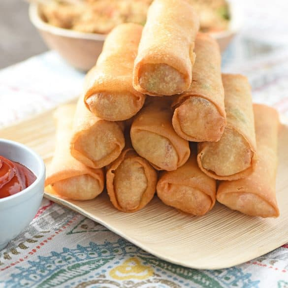 Chicken Fried Rice Spring Rolls Ready to Eat