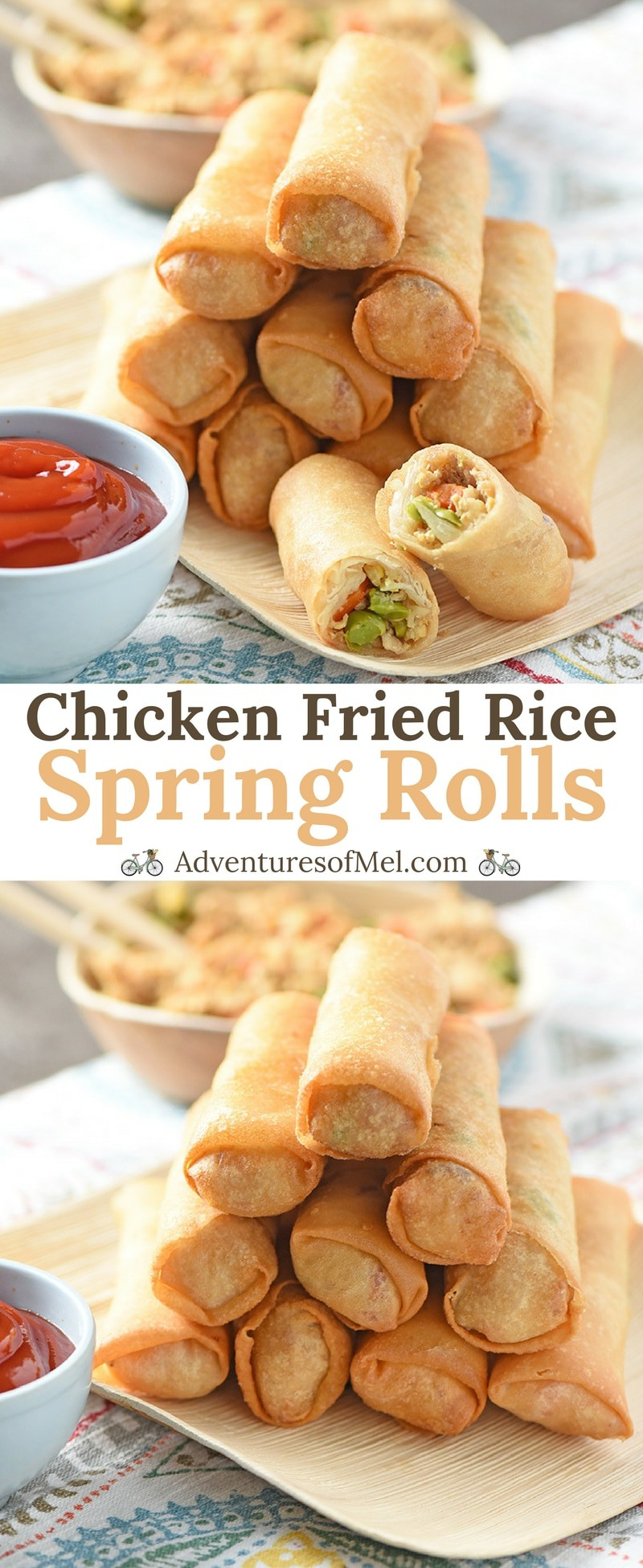 How to make Chicken Fried Rice Spring Rolls